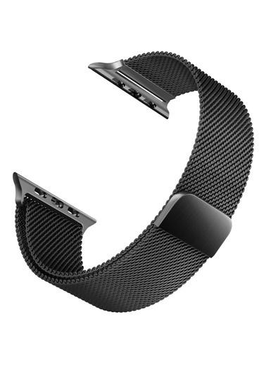 Apple Apple Watch 42-44mm Milano Hasır Çelik Kayış Siyah